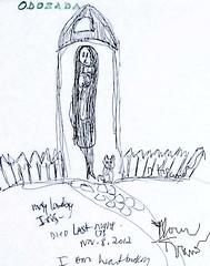 where did you go....Iris? (she wolf-) Tags: death friendship memory passing grief sketchbookdoodlesafterhearingaboutagoodfriendsdeath iriswasmyfriendformanyyearsandwespokeeverydaypracticallyonphonesheusedtocallmeggitwasaprivatejokeandherlittledumplingmissherverymuchispoketohertwodayspriorthinkofherstilldoodles sketchestohealbybydianemkramerakashewolfloss