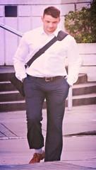 (ManontheStreet2day) Tags: male guy belt hunk crotch stud
