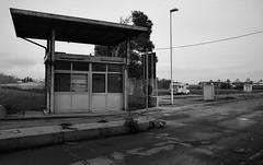 ... (schizoframing) Tags: bw abandoned bn urbanexploration ilfordpanfplus yashicafx3super2000 r09150 ml28mm28