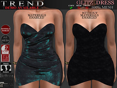GLITZ DRESS - BLACKISH (Jazzy Serra) Tags: glitter mesh sparkle belleza maitreya standardsizing fitmesh materialsenabled