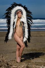 Aziza (Jarleon-Fotografa) Tags: sexy beach girl naked nude model indian fuerteventura playa modelo sesion americanindian desnudo aziza desnudoartistico nikond600 tamronsp70200f28divcusd jarleon jarleonfotografia