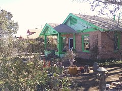 green paint (EllenJo) Tags: house home mainstreet historic february verdevalley 2016 1920sarchitecture clarkdalearizona brickbungalow ellenjo