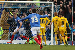 Portsmouth_Bristol Rovers_BZ0500 (Barry Zee) Tags: england football goal soccer hampshire portsmouth michaelsmith frattonpark bristolrovers portsmouthpo48ra