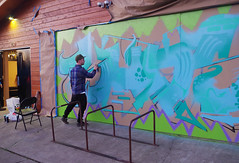Buds work overview (Wolfram Burner) Tags: county street art oregon graffiti mural paint artist tag can spray eugene lane painter spraypaint burner rattle uoregon tagger wolfram rattlecan eugne rattlepaint rattlecanspecialist rattlespray