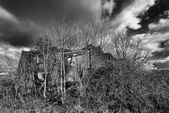 The Old Place (Mister Oy) Tags: old blackandwhite monochrome barn rural mono decay bigsky derelict davegreen billinge oyphotos fujixt1 fuji1024mm oyphotos