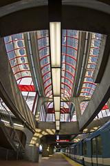 Station Angrignon (dazane1 (de retour)) Tags: montral mtro fisheeye granganglewideangle