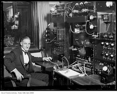 CFRB opening, Jack Sharpe at control board