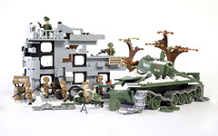 Counter-attack! (Adam Purves (S3ISOR)) Tags: brick war tank counter lego military wwii attack destroyer armor soviet ww2 block russian armour worldwar worldwar2 cobi t34 2470 2467 counterattack su85 smallarmy t3472