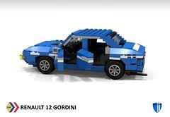 Renault 12 Gordini (lego911) Tags: auto france classic sports car sedan french model lego render rally renault 16 1970 12 1970s saloon ts fwd berline cad povray moc ldd rwd gordini miniland lego911