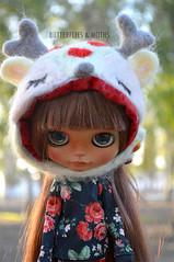 Tofu! (Sia ♥) Tags: felt needle blythe needlefelting custom blythedoll needlefelt butterfliesxmoths