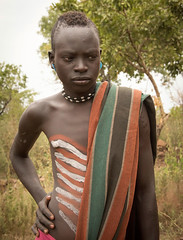 Mursi Boy (Rod Waddington) Tags: africa male beads outdoor body african painted tribal afrika omovalley ethiopia tribe mago mursi afrique ethiopian omo ethiopie
