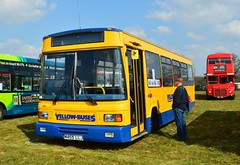 455 M455LLJ (PD3.) Tags: bus buses yellow festival kent coach south east preserved dennis dart coaches maidstone 455 lancs showground llj bournemoth delting m455llj m445
