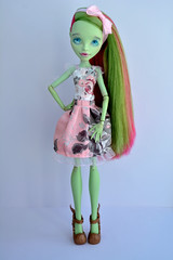 Yumi ^^ (dasha.savitskaya13) Tags: pink blue white black green girl beautiful monster rose happy grey spring high nice shoes warm doll venus dress princess pastel kind lovely yumi monsterhigh mcflytrap