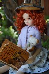 Gracie Settles In (Emily1957) Tags: light toy toys nikon gracie doll dolls kitlens naturallight mickeymouse bjd redhair bismark nikond40 kayewiggs dewdropteddybears