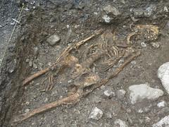 Ausgrabungen in Stans (Priska B.) Tags: friedhof schweiz switzerland swiss steine svizzera erde stans knochen schdel ausgrabungen grabung skelette notgrabung