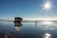 2016-01-10 - Peter Iredale Shipwreck-13 (www.bazpics.com) Tags: ocean sea usa beach water oregon america skeleton sand ship pacific or wave peter shipwreck frame hull wreck iredale