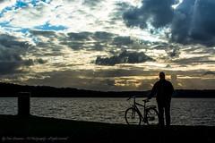 Man with a bike (Facebook: TsPhotography.UE) Tags: sunset nature bike silhouette night nikon natur nightphoto skyer solnedgang vand cykel aften lyngby virum frederiksdal mennesker silhuet aftenbillede modlys nikonphotography visitdenmark natureselements aokdk aftenbilleder visitcopenhagen visitlyngby