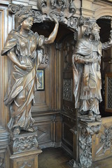 Oak Confessional by Jacob Berger, 1697/8. (greentool2002) Tags: our church by lady oak lieve jacob bruges confessional onze berger 16978 vrouwekirk