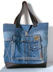 sac cabas en jean re (Fred-qpa) Tags: en paradise jean outdoor furniture sac quilting re patchwork wicker appliqu cabas
