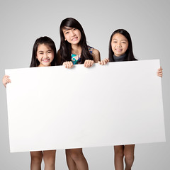 Happy smiling group of kids (Patrick Foto ;)) Tags: show boy party people cute girl smile childhood sign advertising poster asian fun thailand happy bill kid team friend child message display many 10 space board joy group banner diversity lifestyle row line billboard several teen cardboard together card blank thai casual copyspace excitement showing isolated hold placard