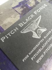 Pitch Black Forge (artnoose) Tags: black ink silver paper business card pitch blacksmith forge custom letterpress anvil