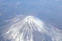 See Fujisan in sky_b (fosa.) Tags: sky mountain japan airplane lookdown mountfuji fujisan overlook mtfuji