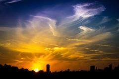 Rose Bay II () Tags: city sunset sky cloud sun landscape sydney australia newsouthwales sydneyharbour rosebay