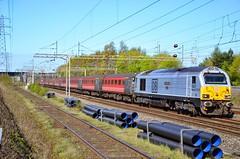 67029 Halewood (cmc_1987) Tags: gm riviera db skip wembley ews dbcargo wcml liverpoollimestreet class67 67029 67028 footex