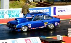 (Sam Tait) Tags: santa blue england ford car festival drag pod power good anniversary racing strip pro mk2 friday 50th et v8 escort rs2000 dragster raceway