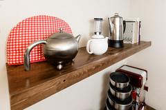 Hot Bevy Station Shelf (//d.) Tags: coffee make tea like stained shelf cedar stuff popcorn projects simple making sturdy woodworking cookbooks diamondvarithane
