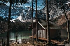 from austria, with love (philipp_mitterlehner) Tags: lake mountains nature landscape austria spring hiking hut hiro mountainlake wandern langbathsee