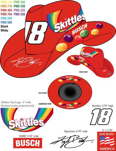 2543aaa296a 2016  18 Skittles Kyle Busch Bilyjack Cowboy Hat