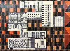 Gordon Cullen tile mural, Coventry (robmcrorie) Tags: modern century shopping tile ceramic mural war post gordon 1957 carter 1960s 1968 coventry mid warwickshire poole precinct cullen tilles