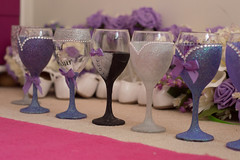 I Call Upon These Cups Here Present (Jamo_115) Tags: wedding decorations art cup glitter 50mm groom bride nikon craft marriage bridesmaid nikkor bows d3200