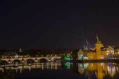 View of Charles Bridge (DilluSingh) Tags: light night czech prague charlesbridge
