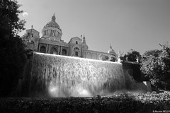 Barcelona (belzebello) Tags: barcelona city light urban blackandwhite bw castle art monochrome beautiful architecture landscape amazing spain noiretblanc lumiere chateau paysage espagne baw barcelonasagrada