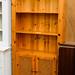 Tall natural pine lattice 2 door dresser