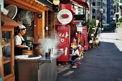 Street food, Seoul Korea (titi san) Tags: street food film asian 50mm asia pentax traditional streetphotography korea korean seoul 17 fujifilm traveling coree streetfood