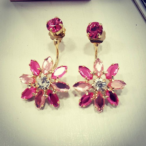 Margheritine Piercing bicolor #multicolor #newcollection #bijoux #Jewels #madeinitaly #handmade #bags #lofi #fucsia #flower #stileitaliano #youniquelab #fashionjewellery #partner #earrings