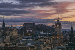 Auld Reekie Sunset (Colin Myers Photography) Tags: old sunset colin clouds photography scotland town warm edinburgh colours awesome hill capital scottish caltonhill calton myers edinburghsunset auldreekie colinmyersphotography