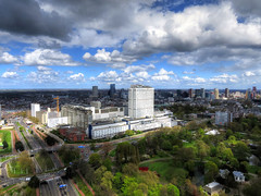 Rotterdam part2 (Wilm!) Tags: park city netherlands clouds rotterdam wolken uitzicht hdr stad euromast erasmusmc rotjeknor dijkzigt euromastpark droogleeverfortuynplein