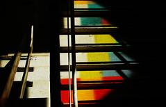 suspension of perception II (RegiCardoso) Tags: light abstract colors lightandshadows colours shadows interior staircase abstraction escada sombras escalier escadaria fundopreto abstrao