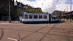 Trams op Koningsdag 13 (Peter ( phonepics only) Eijkman) Tags: city holland netherlands amsterdam transport nederland tram rail bn rails trams strassenbahn noordholland gvb tramtracks streetcars nederlandse trapkar