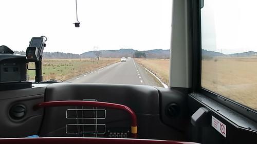 Buss 309 på vägen mellan Kareby och Grokareby 2016