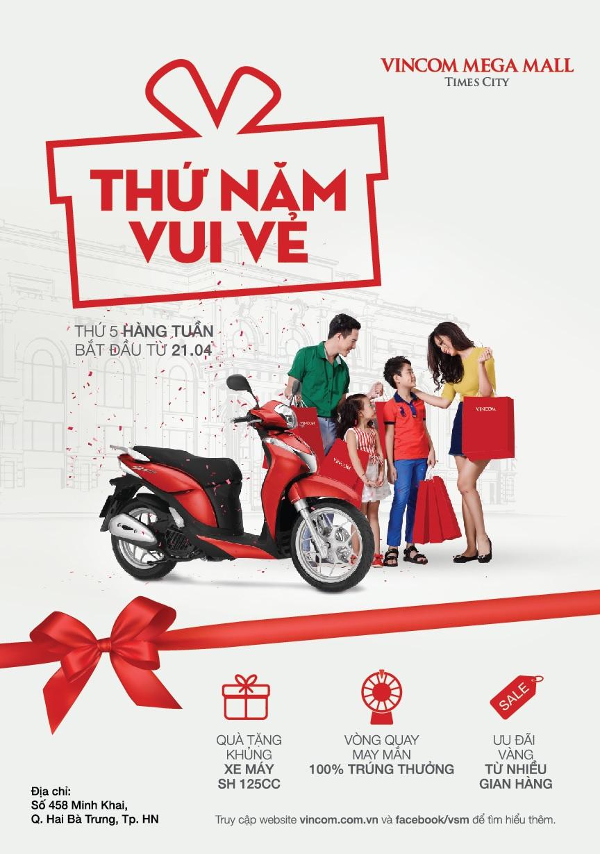 'Thứ Năm Vui Vẻ' tại Vincom Mega Mall Times City