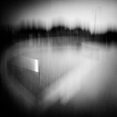 Curved wading pool (rustman) Tags: blackandwhite bw square iso3200 grain 11 pinhole slit worldwidepinholephotographyday 22mm gf1 f128 dynamicblackandwhite panasoniclumixgf1 pinwide wanderlustpinwideslit
