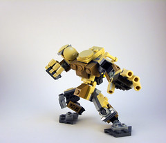 O.G.R.E. Frame (Jay Biquadrate) Tags: lego mecha mech moc microscale mfz mf0 mobileframezero