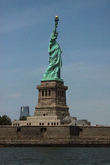 Standing Proud (lefeber) Tags: city nyc newyorkcity urban newyork architecture waterfront fort verdigris copper statueofliberty atlanticocean libertyisland