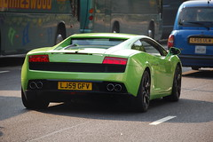 Lamborghini Gallardo LP560-4 (D's Carspotting) Tags: green london united kingdom lamborghini gallardo lp5604 20100626 lj59gfv