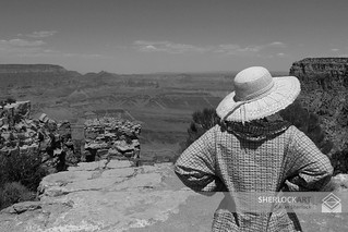 Admiring the view. Grand Canyon- 2004